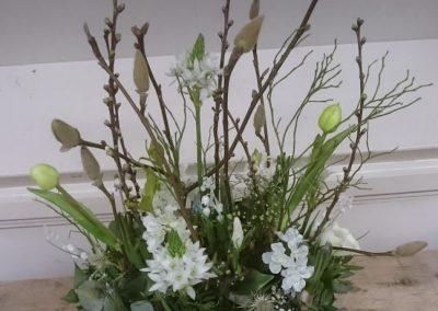 voorjaars pot met takken